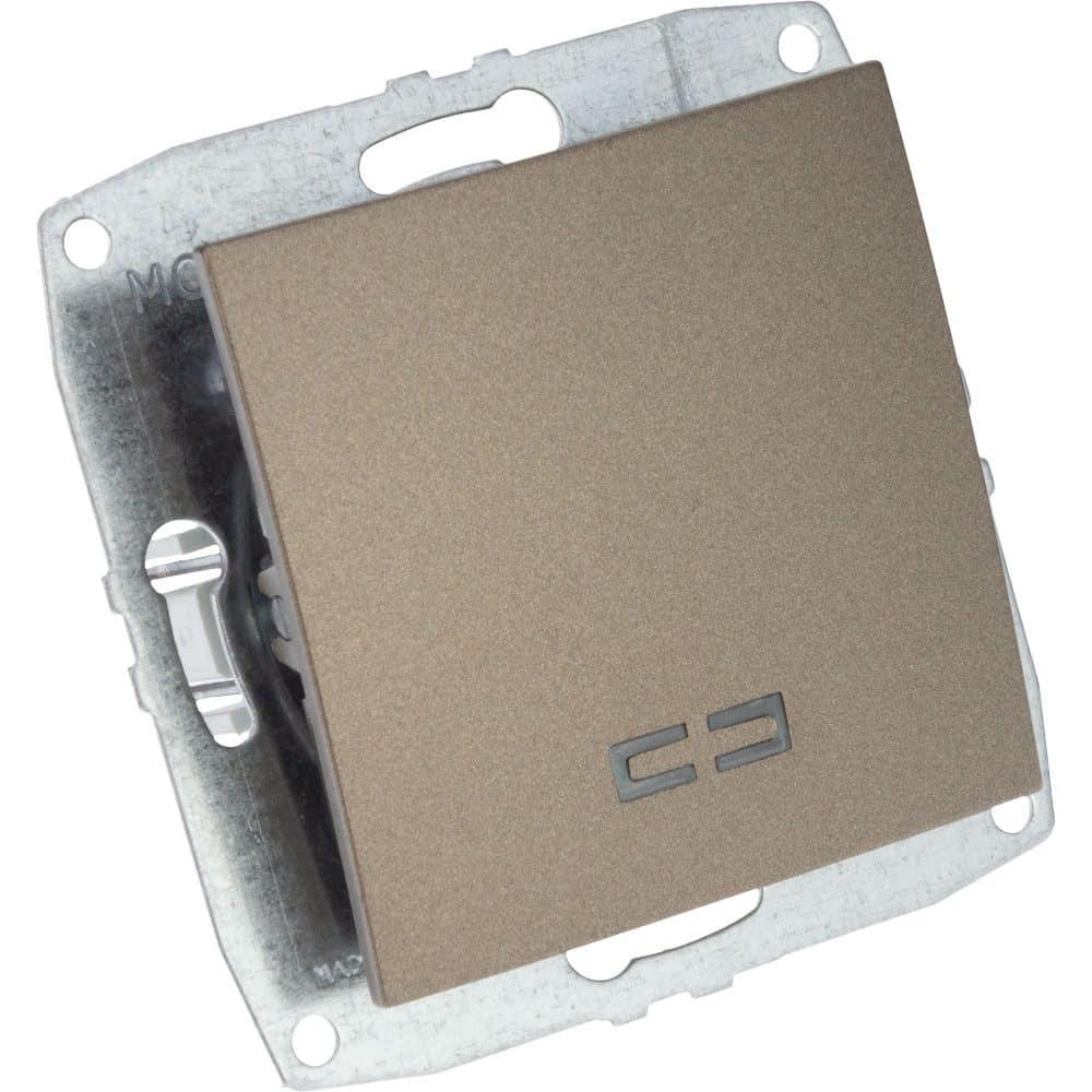 Mecanism Intrerupator simplu cu LED Mono Electric, ingropat/ST, LIGHT FUME