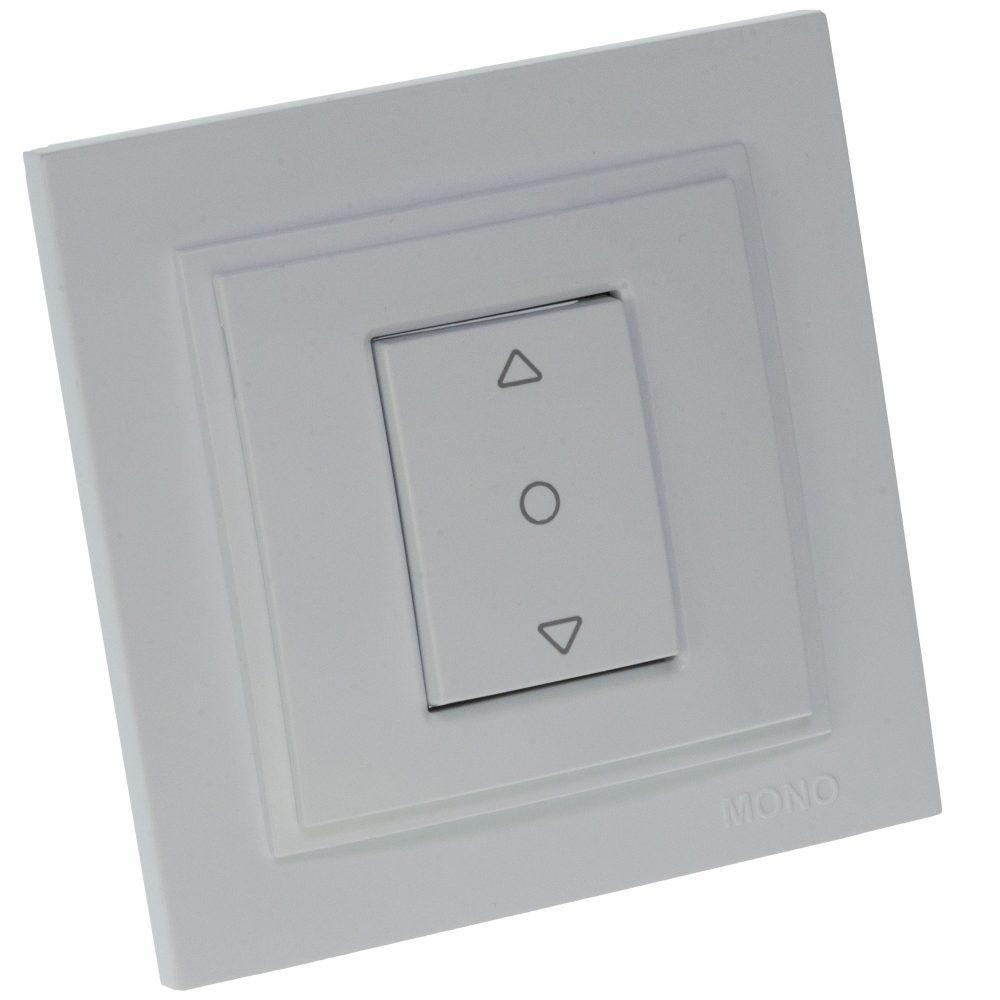 Intrerupator de control jaluzele Mono Electric, DESPINA, 230V, ingropat/ST, alb