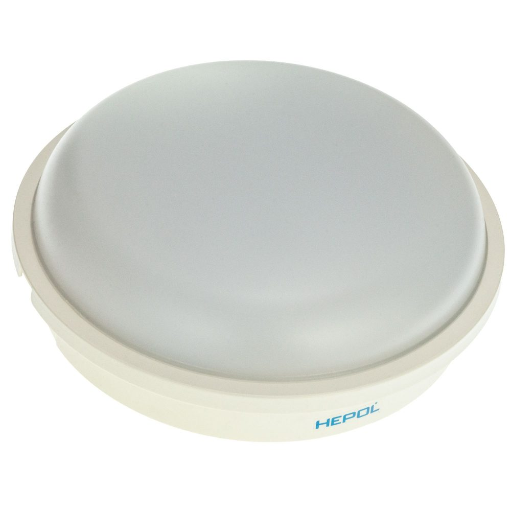 Aplica LED rotunda HEPOL, aparent/PT, 20W, lumina rece