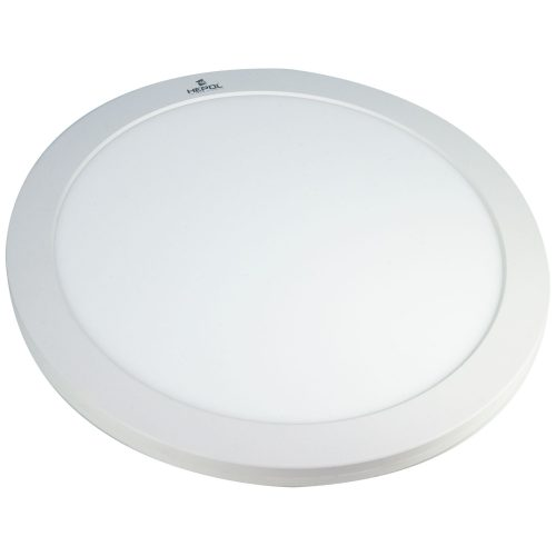 Aplica LED rotunda HEPOL, aparent/PT, 24W, temperatura de culoare ajustabila 3000K / 4500K / 6500K