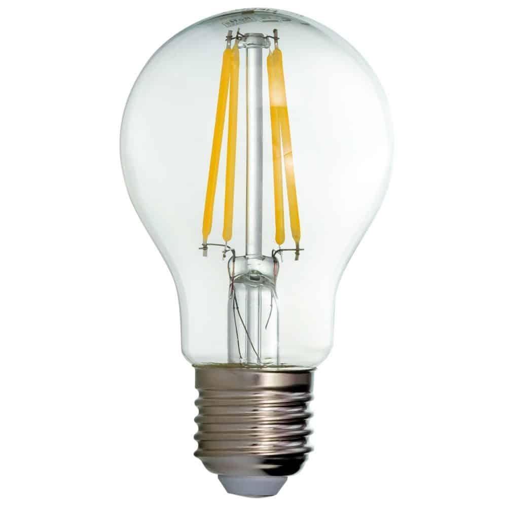 Bec LED filament LOHUIS, forma A60, CLAR, E27, 8W, 25000 ore, lumina neutrala