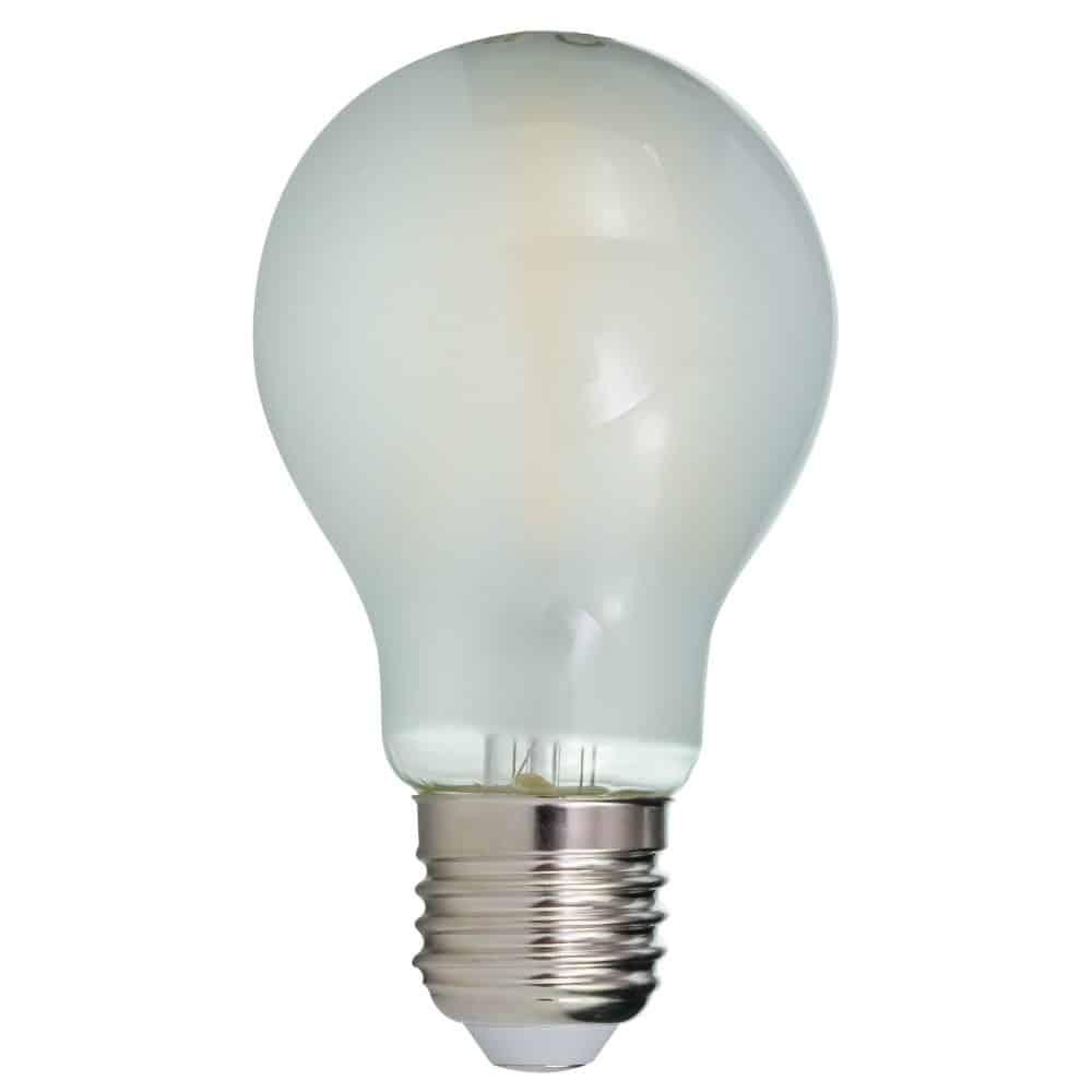 Bec LED filament LOHUIS, forma A60, MAT, E27, 8W, 25000 ore, lumina neutrala