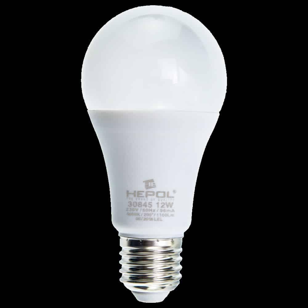Bec LED LOHUIS, forma A60, E27, 12W, 25000 ore, 4000K