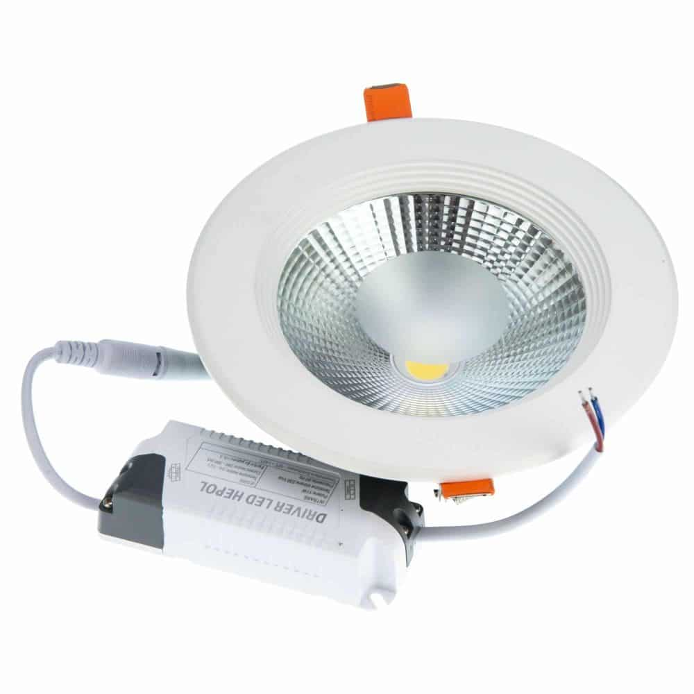 Spot LED rotund HEPOL, BETA, incastrat/ST, 15W, lumina rece