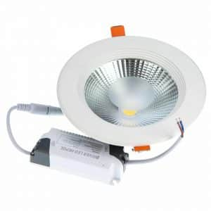 Spot LED rotund HEPOL, BETA, incastrat/ST, 15W, lumina rece