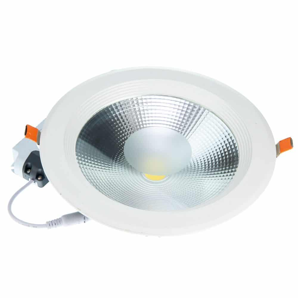 Spot LED rotund HEPOL, BETA, incastrat/ST, 30W, lumina rece