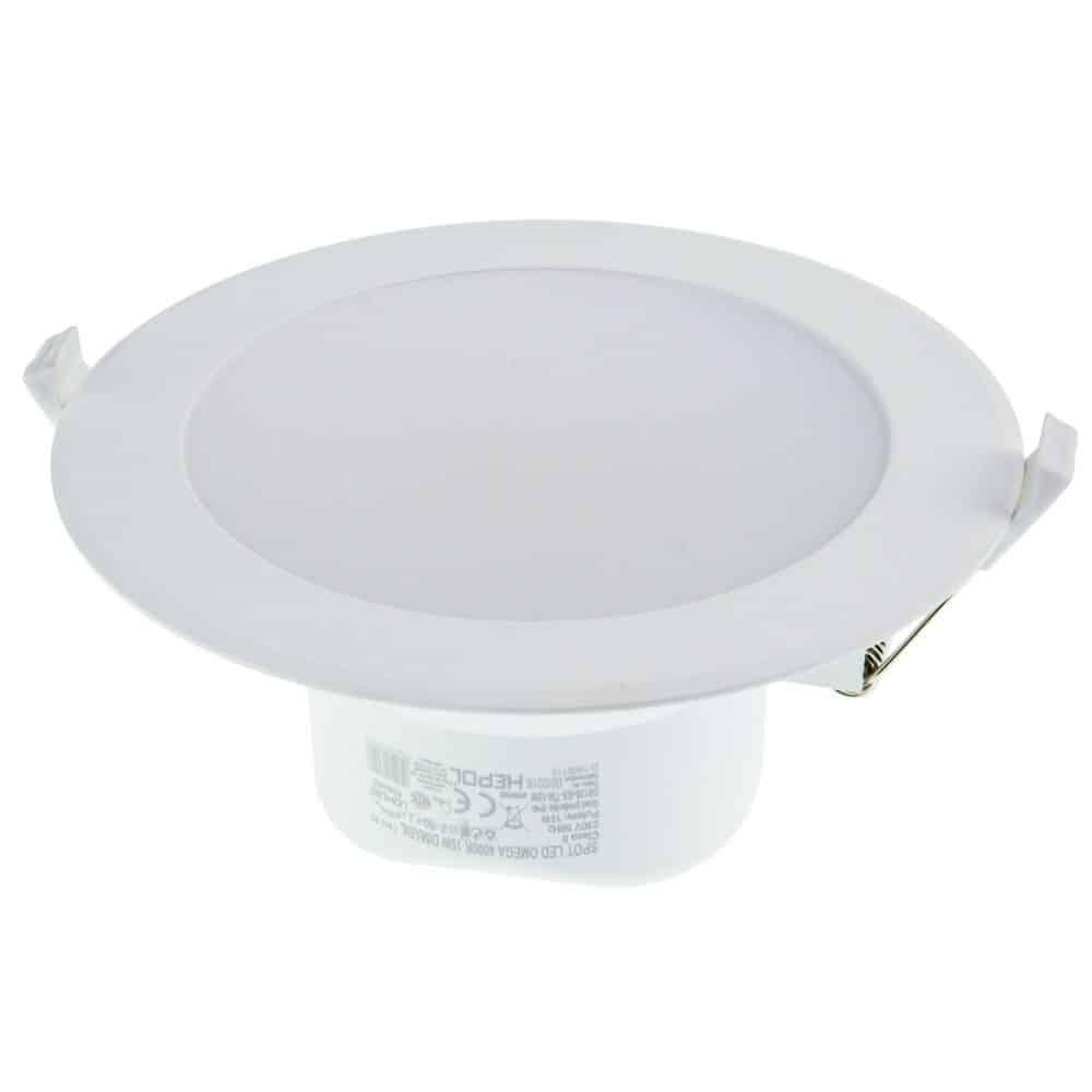 Spot LED rotund HEPOL, OMEGA, incastrat/ST, 15W, dimabil, temperatura de culoare ajustabila