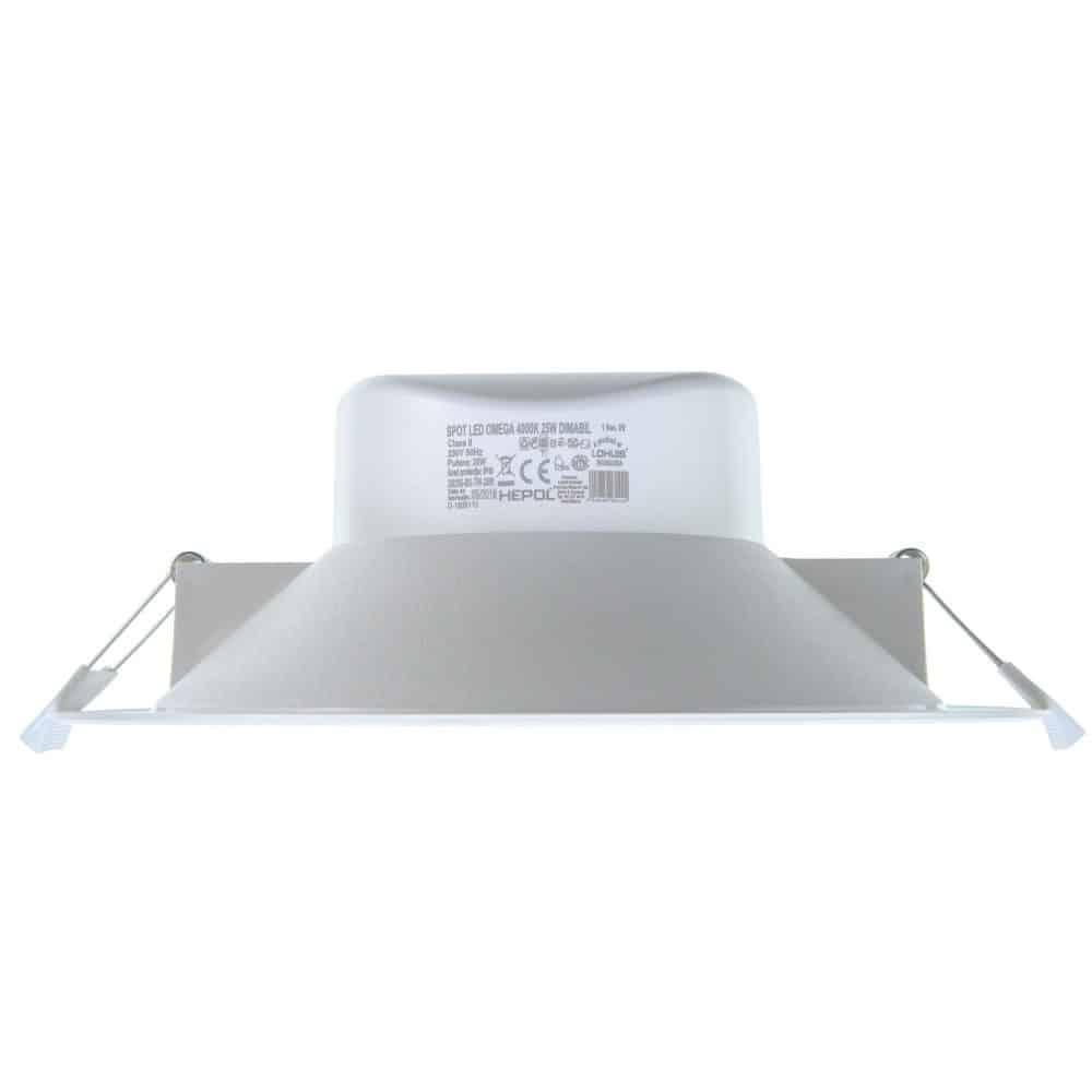 Spot LED rotund HEPOL, OMEGA, incastrat/ST, 25W, dimabil, temperatura de culoare ajustabila