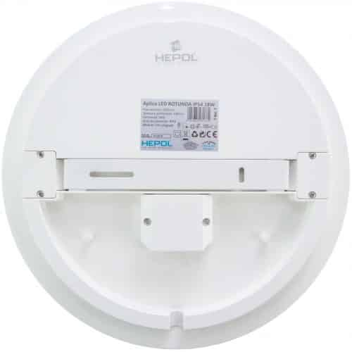 Aplica LED rotunda HEPOL, aparent/PT, 18W, IP54, lumina rece
