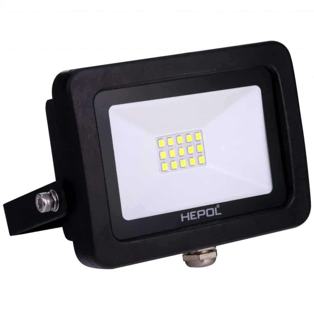 Proiector LED HEPOL, APOLLO, IP65, 10W, negru, lumina verde