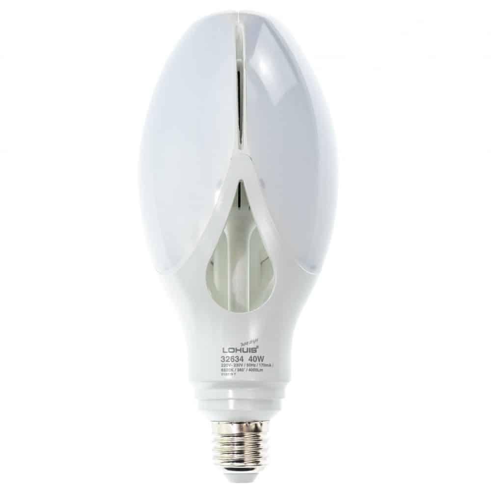Bec LED LOHUIS FLOWER, E27, 40W, 25000 ore, lumina rece