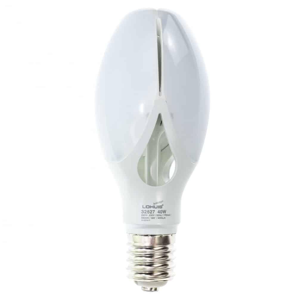 Bec LED LOHUIS FLOWER, E40, 40W, 25000 ore, lumina rece
