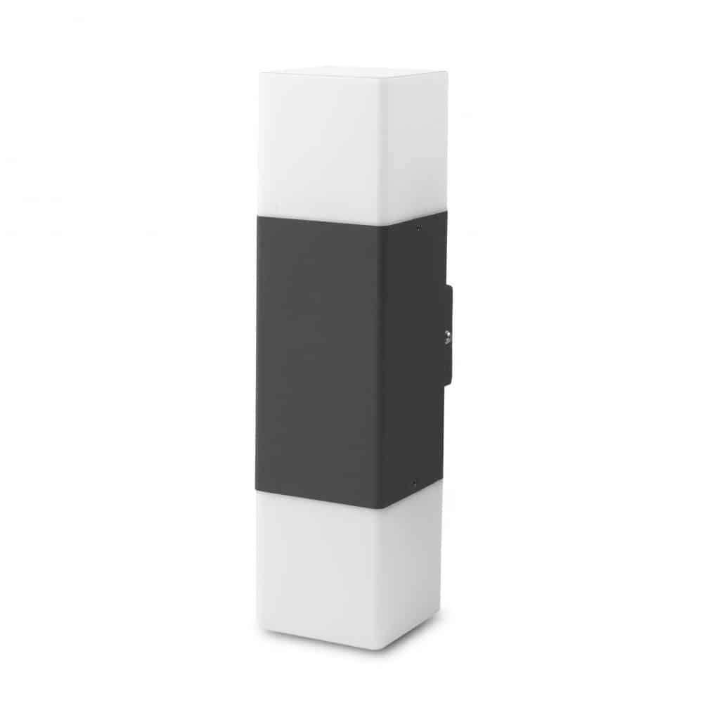 Aplică perete exterior IP54, 2XE27, max. 15W, 111x82x290mm